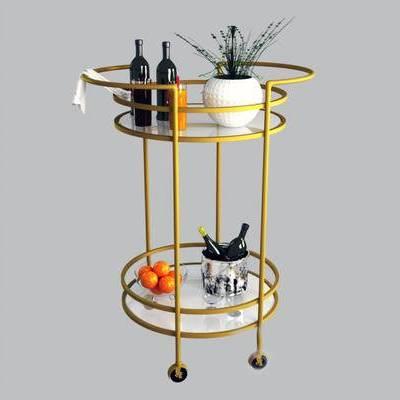 酒瓶, 托盘, 现代, 手推车, 盆栽