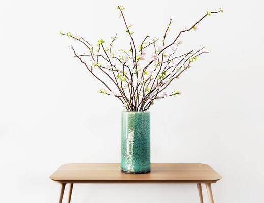 摆件组合, 花瓶, 花卉, 现代