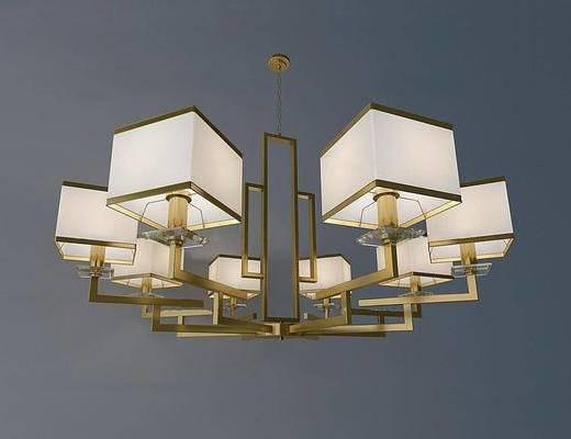 中式, 金属吊灯, 吊灯, 灯具
