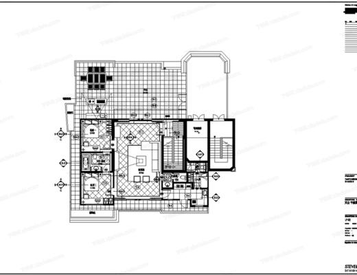 CAD, 施工图, 别墅, 私宅, 平面图, 立面图, 大样, 节点, 家居, 家装
