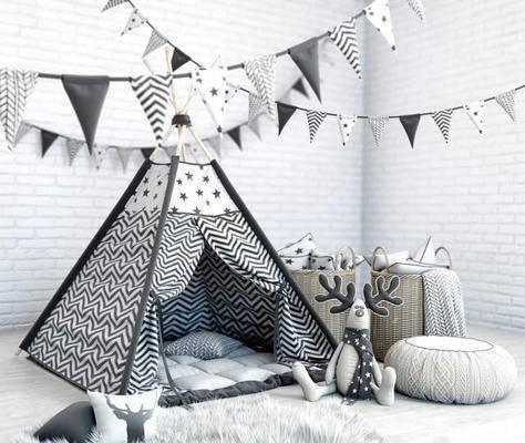 现代, 帐篷, 玩具, 公仔, 地毯