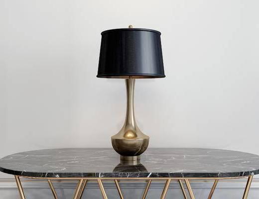 台灯, 桌子, 简欧