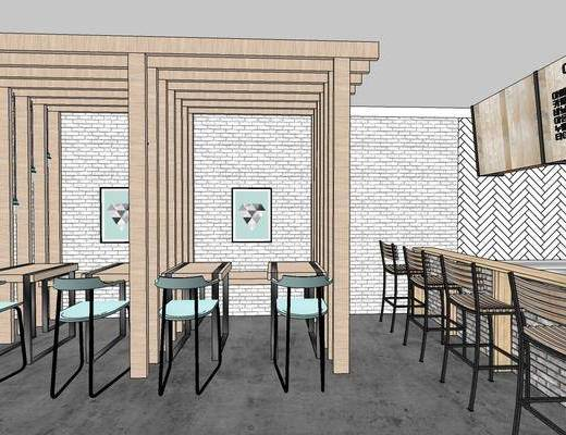 现代咖啡厅, 咖啡店