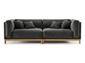 美式简约, 工业风格, 黑色沙发, 沙发, corona