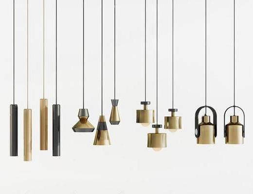 现代简约, 吊灯, 灯具, 现代吊灯