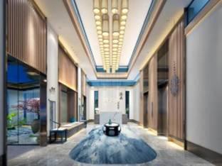 新中式酒店会所大厅门厅3D模型