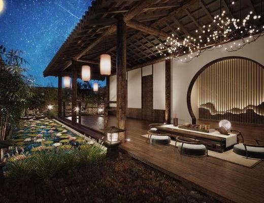 庭院, 中式, 创意设计