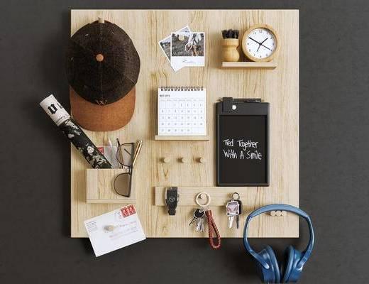 美式简约, 办公用品组合, 耳机, 陈设品组合