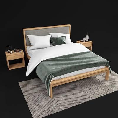 下得乐品牌模型库, 现代, 双人床
