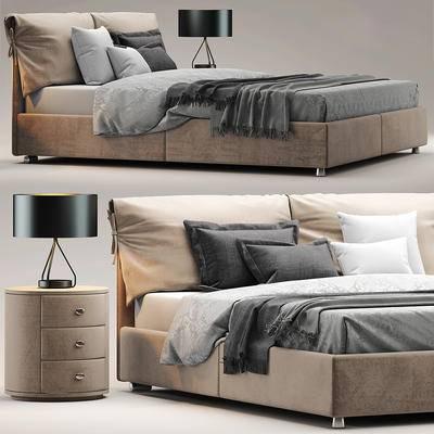 床具, 台灯, 床头柜