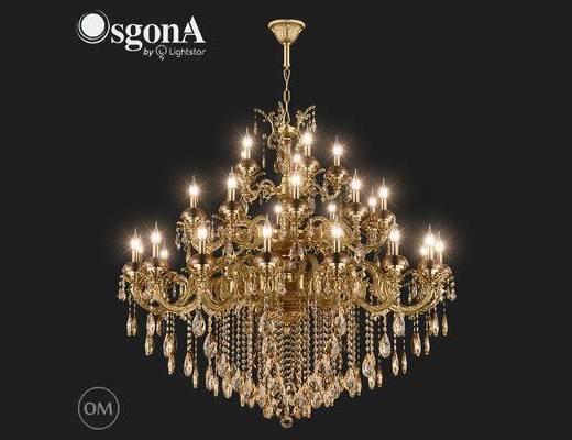欧式, 水晶, 吊灯, 金色, 中国Osgona