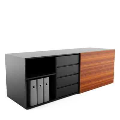 现代, 柜子, 边柜, 办公柜, 文件夹