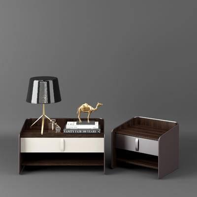 美式, 床头柜, 摆件, 边桌