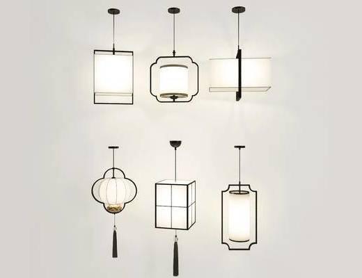 吊灯, 灯具, 新中式