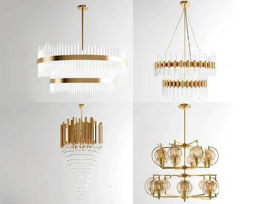 现代, 吊灯, 金属