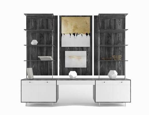 现代简约, 电视柜, 置物柜, 陈设品组合