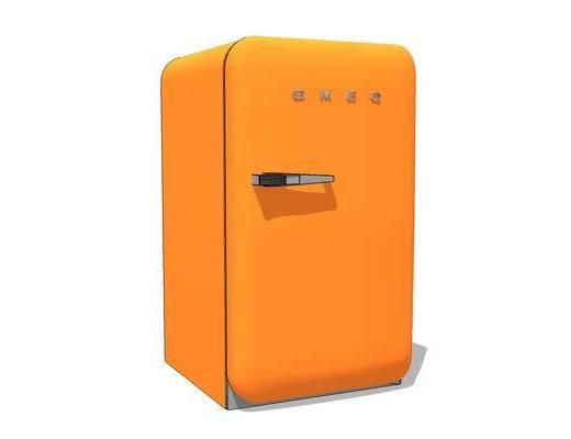 现代, 冰箱, 电器, 摆件