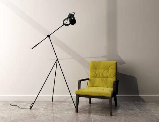 单椅, 落地灯, 现代