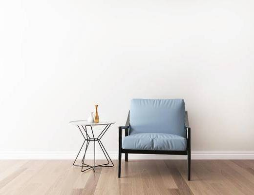 桌椅组合, 椅子, 单椅, 圆几, 现代