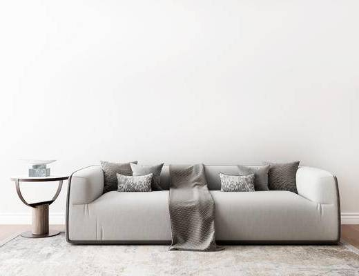 沙发组合, 多人沙发, 圆几, 现代