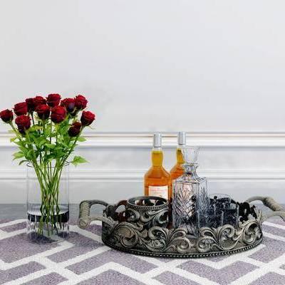 摆件组合, 花瓶, 简欧