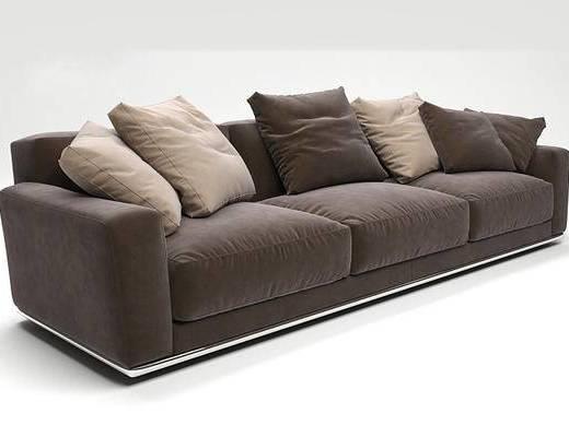 现代简约, 沙发, 多人沙发, 现代沙发