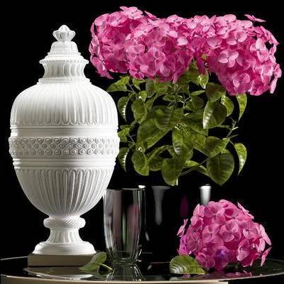 现代, 花瓶, 摆件, 陶瓷