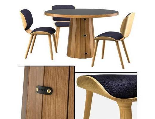 现代简约, 实木桌椅, 桌子