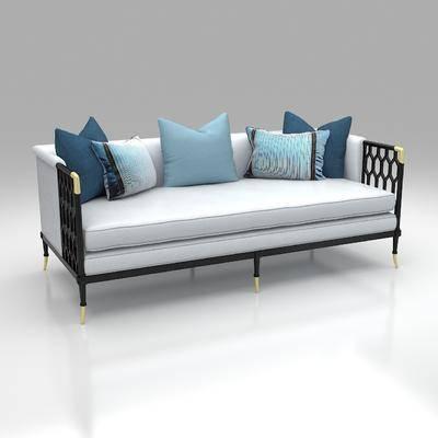 新中式双人沙发, 沙发椅, 单椅
