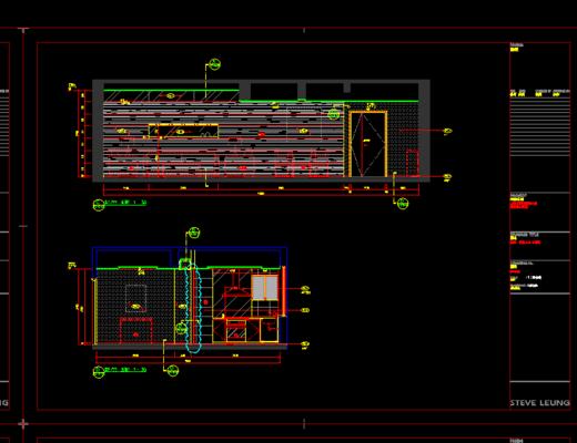 CAD施工图, 家装, 大师, 平面图, 立面图