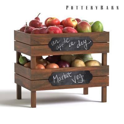 美式, 水果架, 苹果