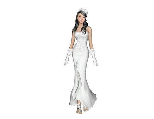 女人, 装饰, 现代, 服装, 模特