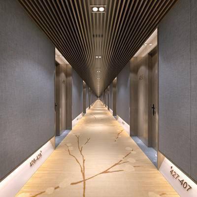 走廊过道, 门, 现代