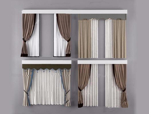 新中式, 窗帘