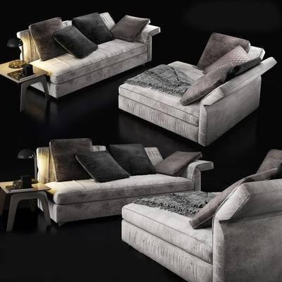 现代简约, 沙发, 多人沙发