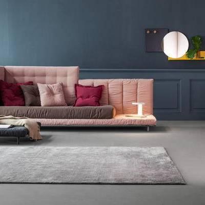 多人沙发, 边几, 地毯, 北欧