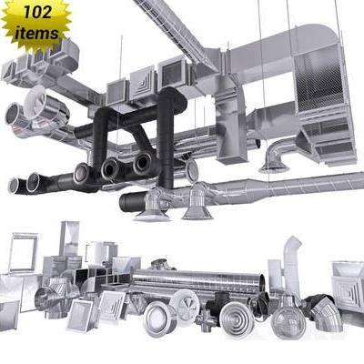 铁管, 排气口, 工业风