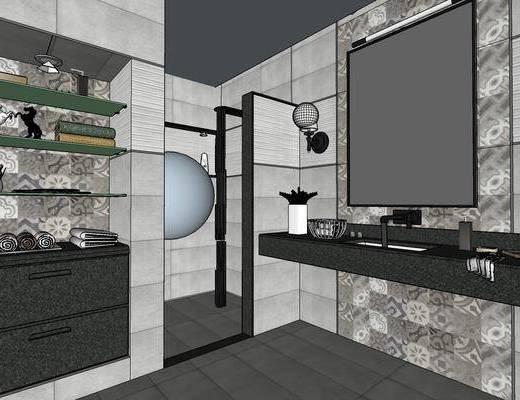 现代卫生间, 卫生间, 洗手间, 卫浴