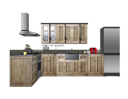 橱柜, 厨柜, 厨房, 现代