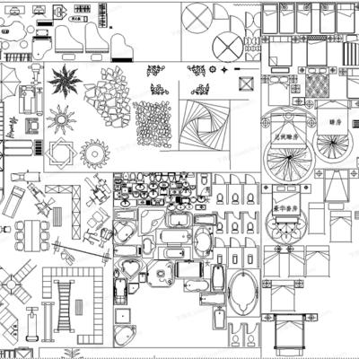 CAD, 模块, 地拼花