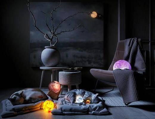台灯, 装饰灯, 创意设计