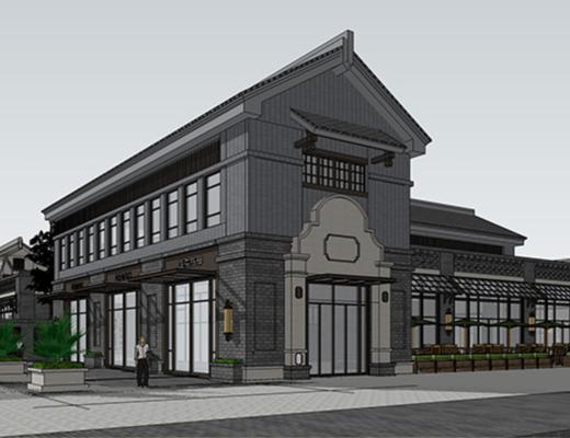户外建筑, 商业楼