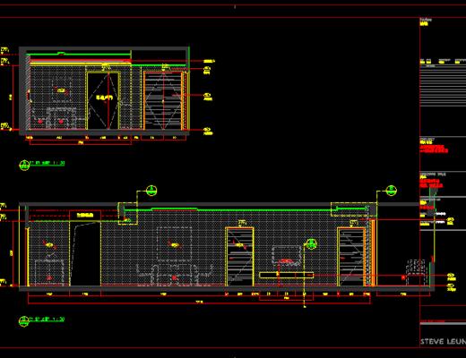 CAD施工图, 大师, 家装, 平面图, 立面图