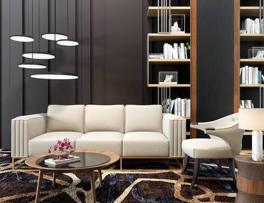 现代沙发组合, 沙发, 桌椅组合