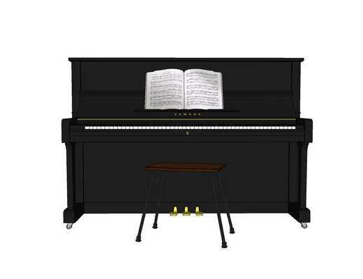 现代, 装饰, 摆件, 钢琴
