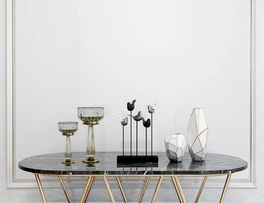 摆件组合, 摆件, 桌子, 现代