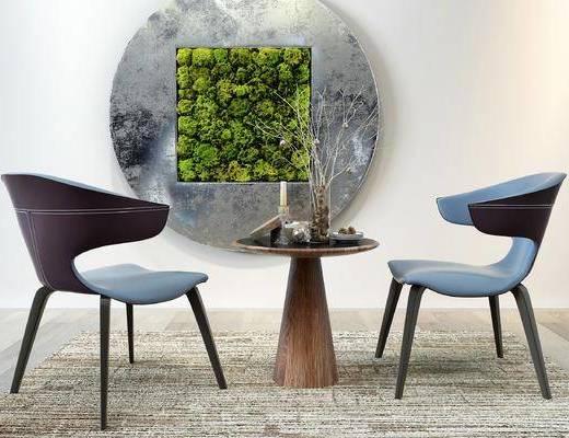 现代桌椅, 桌椅组合, 现代单椅