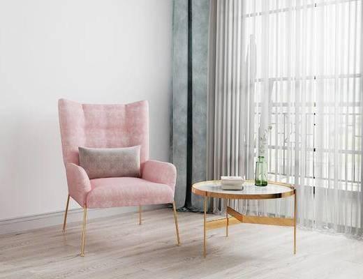 单椅, 边几, 北欧