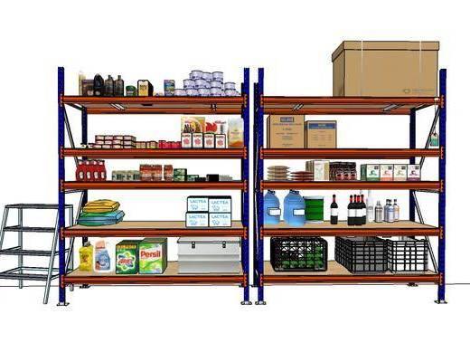 柜架组合, 装饰, 摆件, 现代, 超市