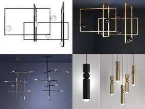 现代简约, 吊灯, 金属吊灯
